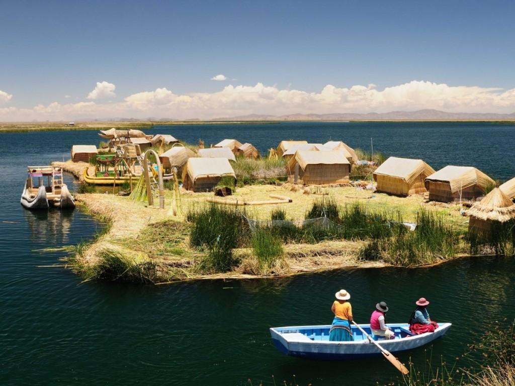 Islas Flotantes, Lago Titicaca, Bolivia